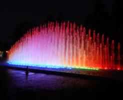 リマのレセルバ公園の噴水